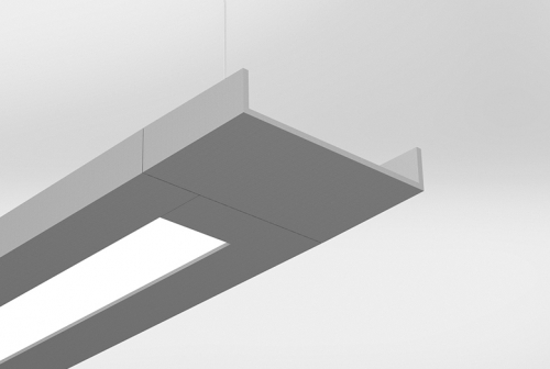 Delgada Rectangular Suspended with Extended End Cap