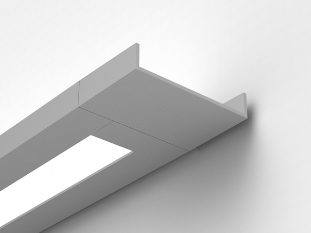 Delgada Rectangular Wall Mount with Extended End