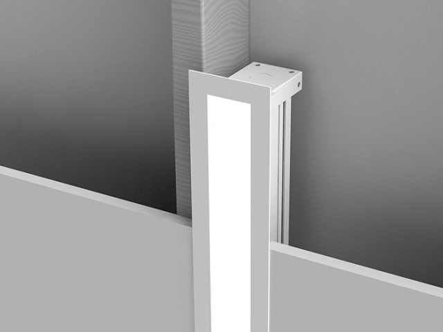 Microlinea Recessed Series 2 Vertical Wall with Overlap Flange