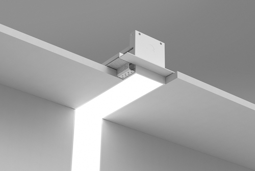 Microlinea Recessed Series 3 Vertical 90 Degree Corner with Spackle Flange