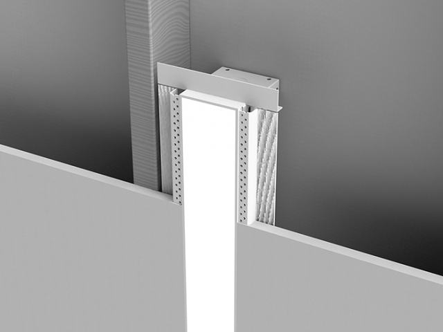 Microlinea Recessed Series 3 Vertical Wall Mount with Spackle Flange