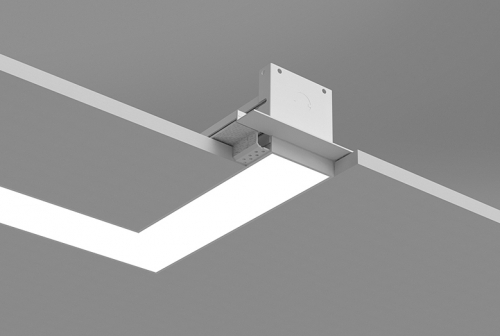 Microlinea Recessed Series 3 Horizontal 90 Degree Corner with Spackle Flange