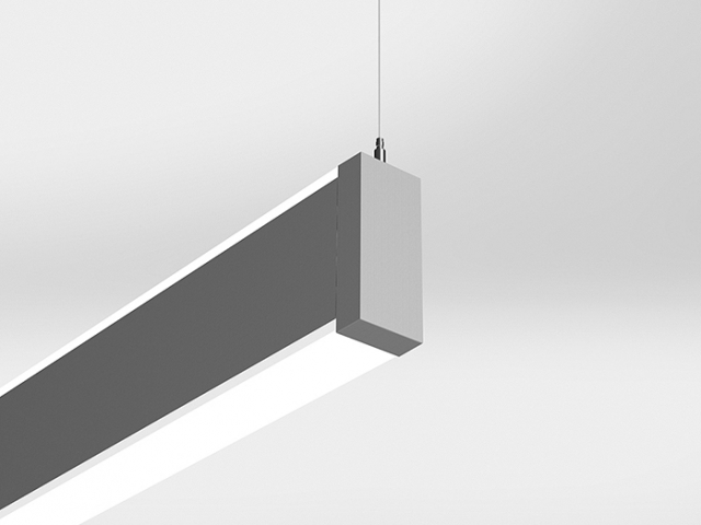 Microlinea Suspended Mount Indirect/Direct Series 2 with Accent Lenses