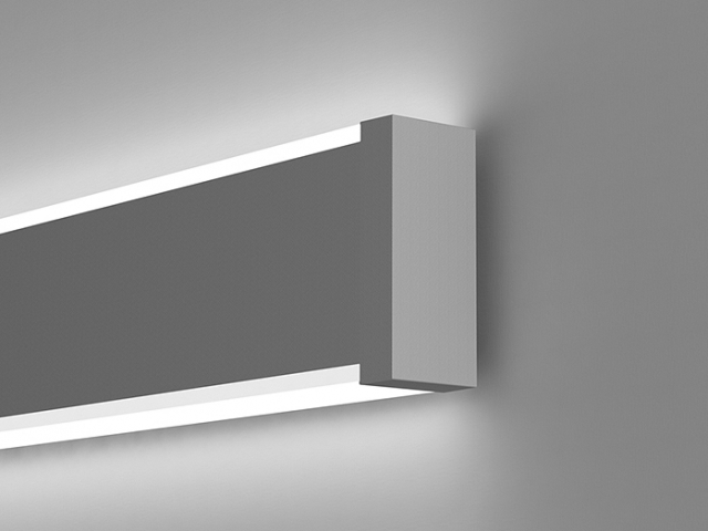 Microlinea Wall Mount Indirect/Direct Series 2 with Accent Lenses