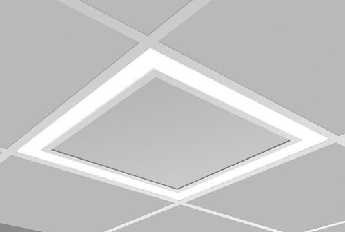 Microquad Recessed 2 X 2 - Flush Lens