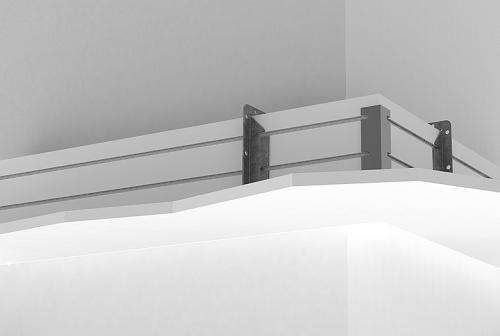 Perimeter System 3 – 90 Degree Horizontal Outside Miter Corner