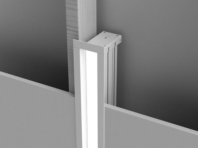 Microlinea Recessed Series 2 - Vertical Mount Overlap Flange w_Regress Lens