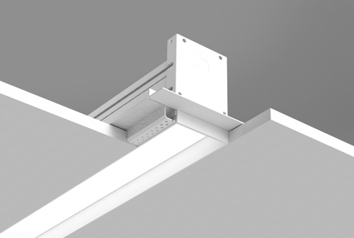 Microlinea Recessed Series 3 - Drywall Ceiling - Spackle Flange with Regress Lens