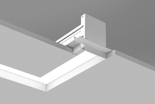 Microlinea Recessed Series 3 Horiz. 90 Deg. Corner Spackle Flange with Regress Lens
