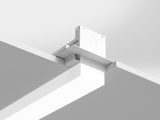 Microlinea Recessed Series 3 - Drywall Ceiling - Spackle Flange with 1.375 Accent Lens