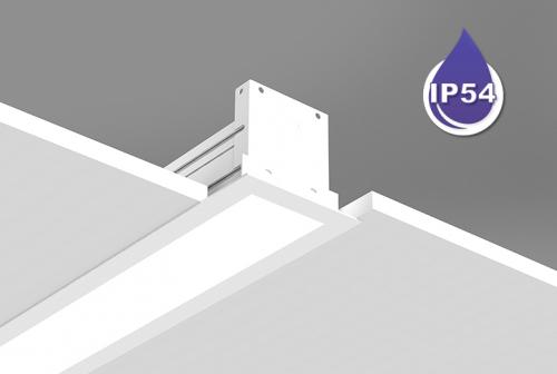 Microlinea Recessed Series 3 Wet Location - Drywall Overlap Flange