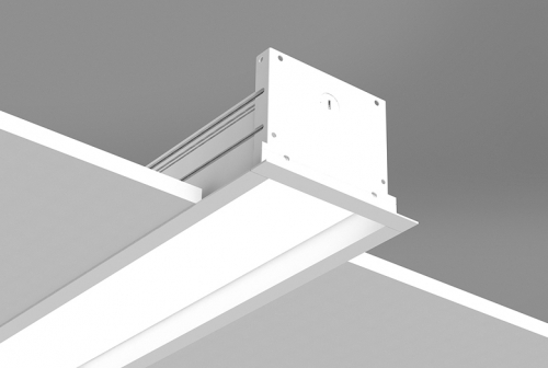 Microlinea Recessed Series 5 - Drywall Ceiling - Overlap Flange with Regress Lens